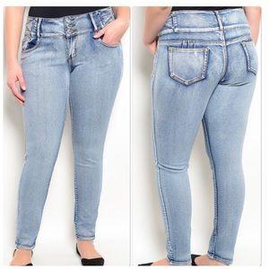 Restock Blue Denim Skinny Jeans